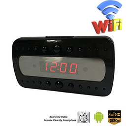 HD1080P Hidden Spy Clock Camera Support Wireless Wifi Remote Control Audio Video Recording With Motion Detect Night Vision Security Cameras
