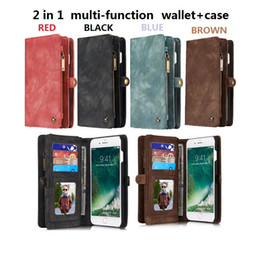 For iphone7 6 plus 2 in 1 Magnetic Magnet Detachable Removable Wallet Leather Retro case Cover iphone 7 SE galaxy S6 S7 edge