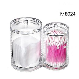 Wholesale New Arrival Acrylic Desktop Cotton Tissue Transparent Cosmetic Crystal Cylinder Cover Lipstick Storage Box Organizer Cases