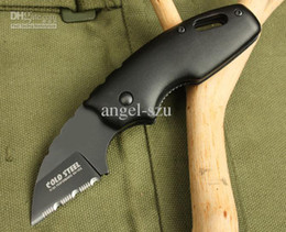 Top quality Cold Steel 710MT fine edge Survival Folding Knife camping pocket knife knives Best gift free shipping