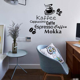 All Kinds Coffee Quote Wall Stickers Coffee Cup Coffee Beans Wall Stickers Home Decoration Art Vinyl Decal Diy