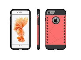 Protection téléphone cellulaire en Ligne-TPU PC téléphone cellulaire housse de protection cas pour iphone 7 bonne qualité 4 couleurs à choisir