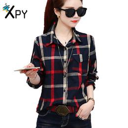 Cotton shirt women new Korean long-sleeved fashion plaid shirt summer self-cultivation lapel wild wear Women tops