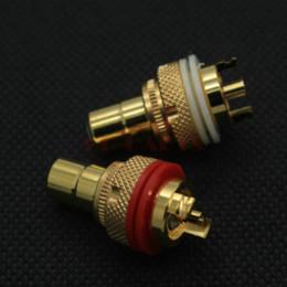 Promotion amplificateur vidéo rca EIZZ haut de gamme femelle RCA jack socket connecteur pour amplificateur audio HIFI TV TV bricolage, or 24K Platted Lot * 4