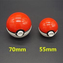 Wholesale Unique Design Pokeball Grinder mm Diametre Large Size Zinc Alloy Plastic ABS Metal Herbal Grinders pc Poke Ball Grinder Layer Parts