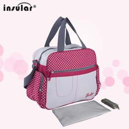 Wholesale 600D Nylon Fashion Baby Diaper Bag Messenger Bag Waterproof Mommy Bag Support Drop Ship