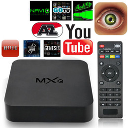 Amlogic android en Ligne-Android 4.4 MXQ TV Box Quad Core 8G Amlogic S805 Smart TV Box KD16.1 Full Loaded WIFI suport 3D Films gratuits