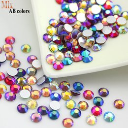 Wholesale New Products Release Mixed AB Colors All sizes Non Hotfix Flatback Glass Rhinestones Nail Rhinestone For Nails Gems