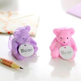 Wholesale creative stationery cute cartoon bear backpack eraser pencil sharpener student school supplies