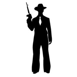 Wholesale 10pcs lot Ruthless Gang Gangster Armed with Assault Rifles Standing Car Sticker for Window Laptop Motorcycle Funny Vinyl Decal