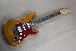 Wholesale guitar factory New Natural alder body st electric guitar stratocaster