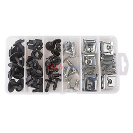 60pcs Engine Protection Pan Hardware Kit Pin Clip Nut For Audi A4 A6 VW Passat