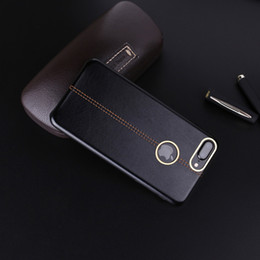 Luxury Men s stitching Leather Genuine Gold Ring Hard Phone Case Cover Coque Fundas For iPhone 6 6S 6Plus 7 7Plsu