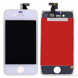 Wholesale For iPhone S inch LCD Display Touch Screen Digitizer Assembly with Speaker Mesh Attached black white replacement discount price