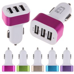Best Triple USB Universal In Car Charger Adapter USB Socket 3 Port Car-charger 2.1A 2A 1A For iPhone Samsung Cigarette Lighter Power Adapter
