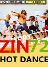 Free Shipping 2017.12 New South America HOT DANCE ZIN 72 Comprehensive dances ZIN72 Video DVD + Music CD