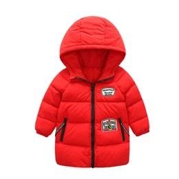 2017 new authentic Cotton Broadcloth 100% winter jacket winter in the long paragraph clothing jacket children's jacket Christmas hooded chil
