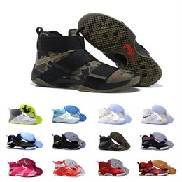 Wholesale Soldiers X Basketball shoes Soldiers for men sports shoes james LBJ X size us
