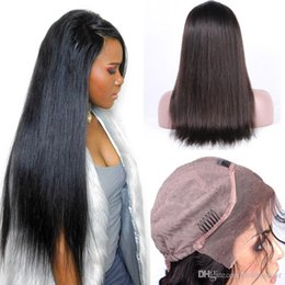 Glueless Lace Front Human Hair Wigs Natural Color Brazilian Straight Remy Hair Wigs For Black Women Shipping Free Lace Front Wigs