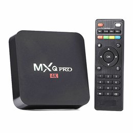 Wholesale mxq pro Android S905X quad core tv box Kodi Full Loaded Lollipop OS Android TV Box G G MXQ PRO K