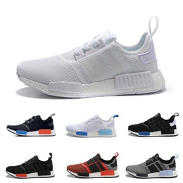2017 Cheap Online Wholesale NMD R1 Primeknit PK Men's & Women's Discount Sales Black Red Blue NMD Sneaker Shoes Running Boosts With Box