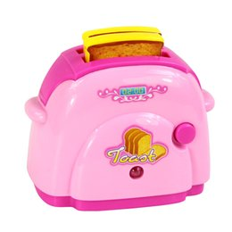 Wholesale Mini Simulation bread machine toy for kid lovely classic electric furniture toy the best gift for children Pink
