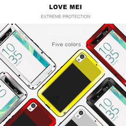 Wholesale For Sony Xperia XA Ultra Protective Phone Cases LOVE MEI Powerful Dirtproof Shockproof Aluminum Metal Back Case Cover