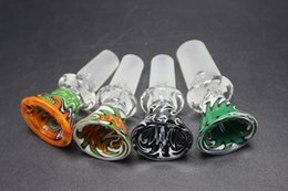 Wholesale slide glass bowls 14.4mm 18.8mm for heady pipe glass water pipes bongs Free shipping