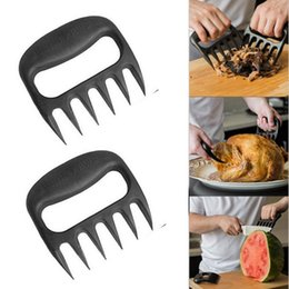 Wholesale Grizzly Bear Paws Meat Claws Handler Fork Tongs Pull Shred Pork BBQ Barbecue Tools BBQ Grilling Accessories with Retail box F201788