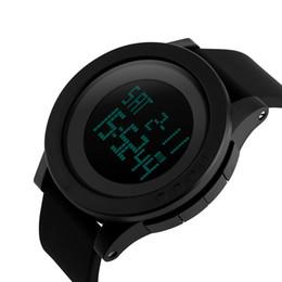 SKmei luxury fashion men's ultra-simple sports watch LED digital display shows 2017 new sports fashion digital waterproof watch resin watch