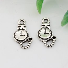 Wholesale Hot Ancient silver Zinc Alloy Single sided Clock Charms Pendant DIY jewelry mm DIY Jewelry A