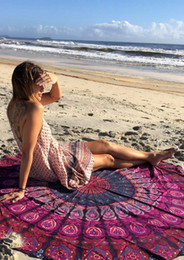 Wholesale Wish New Pattern Creative Printing Beach Towel Super Large Round Outdoor Sunscreen Cape Popular Fashion Yoga Mat md