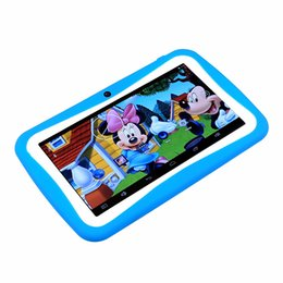 Wholesale Best Quality DHL Free Inch Android5 Kids Children Education Tablets PC GB WiF Quad Core MID HD Dual Camera Game App AR2