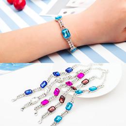 2017 boîtes à bijoux dames 2017 Nouveau Bijoux Femmes Geometric Box Crystal double rangée Drill Creative Bracelet abordable boîtes à bijoux dames