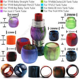 Replacement Epoxy Resin Expansion Tube for Cleito120 SMOK TFV8 Big Baby TFV12 iJust2 Melo III mini Tank The Troll RTA 7ml Atomizer Tubes DHL