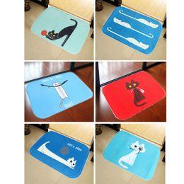 Wholesale Bath Mat Carpet cm X cm Cute Cat Pattern Home Decor Area Rug Carpet Bathroom Bearoom Floor Dining Room Mat Doormat