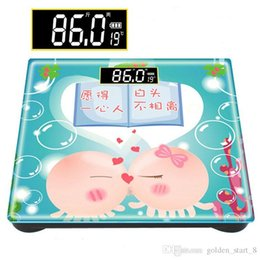 Nueva electrónica de china producto en Línea-Escala de peso de venta Escala de cuerpo de dibujos animados chino patrón de dibujos animados cabeza Productos electrónicos de hogar Nuevas escalas electrónicas Envío gratis