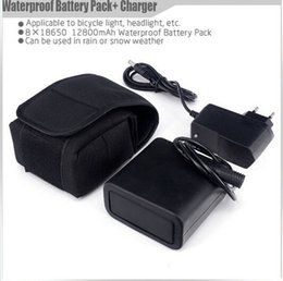 Wholesale Silicone Waterproof Battery Pack mAh x18650 V baterias embalar for Bike Lamp bicycle Light luz bicicleta With Charger