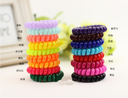 100pcs assorted color Medium size Cutie Plastic rubber ponytail Holders hair accessories Elastic hair ties transparent or solid color