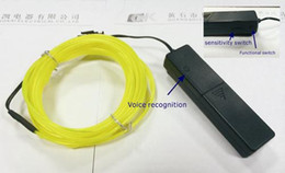 Wholesale-NEW 10 Color 2m EL Wire(Neon wire,electrolumines wire) with 3V Sound control Christmas Holiday Decor Light