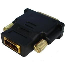 2017 xbox dual DVI-D Doble enlace macho 24 + 1 pin a HDMI Female 19 pines Adaptador HDMI a DVI Gold Conector para HDTV PC LCD para XBOX 360 para PS3 xbox dual oferta