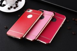 200pcs Newest Litchi grain luxury Plating TPU silicone mobile phone case For iphone 6 6s plus 7 Plating Frame clear cover For iphone6 7