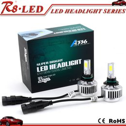 Wholesale Automobile parts A336 high power led headlight bulb h7 h13 for car W built in fan super cooling