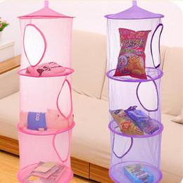 Wholesale Fashion Hot Shelf Hanging Storage Net Kids Toy Organizer Bag Bedroom Wall Door Closet fast shipping F201740