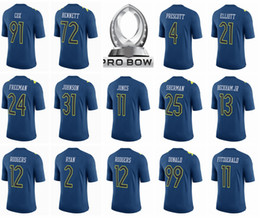 Wholesale 2017 Pro Bowl Jersey Ezekiel Elliott Dak Prescott Aaron Rodgers Odell Beckham Jr Landon Collins Richard Sherman Donald