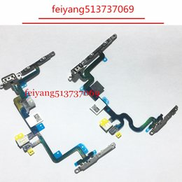 """100pcs 100% new Power On Off Volume Button Switch Flex Cable With Metal Bracket For iPhone 7 4.7"""" 7 Plus 5.5 Repair Parts"""