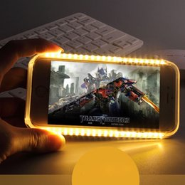 LED Flash light Case Selfie Phone Back Cover Shell Cases Illuminated For iphone 7 6 6S plus