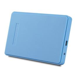 Descuento una caja portadiscos disco Venta al por mayor- 2,5 pulgadas USB 2.0 HHD recinto externo Caddy Case 2TB para el interfaz SATA de 2,5 pulgadas de disco duro IDE Azul