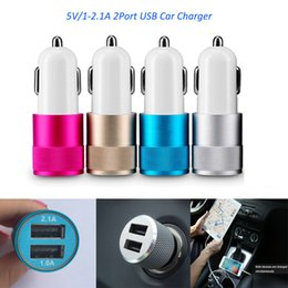 Wholesale Best Metal Dual USB Port car wall charger Universal V A iphone wireless chargers for smartphone Apple iPhone iPad Samsung Galaxy