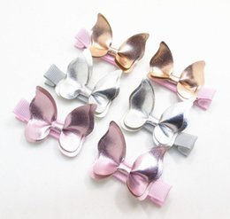 Baby Hair clips Butterfly PU Leather Barrettes girl Bow Hair accessories baby gifts Fashion Hotsale Boutique 2017 wholesale Pink